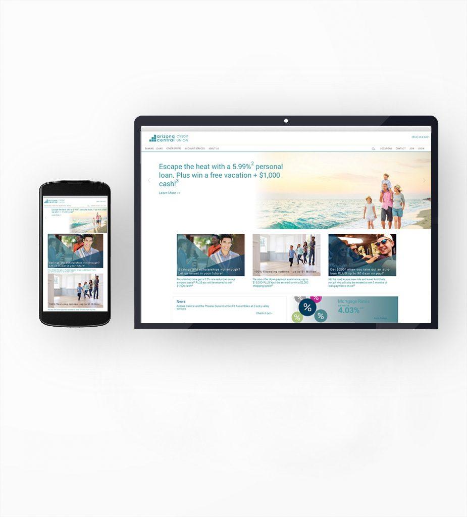 Arizona Central Credit Union - SEO -SEM, Digital Marketing Campaigns, A/B Testing