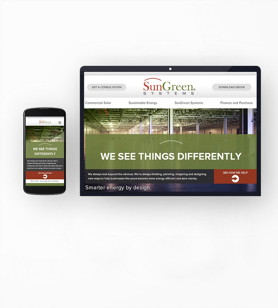 SunGreen Systems Inc. - Web Development, Growth Marketing Campaigns, Mock-up, UI - UX Design, Content Production, SEO-SEM